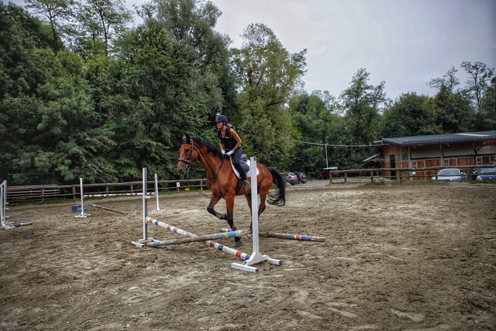 i primi salti a cavallo