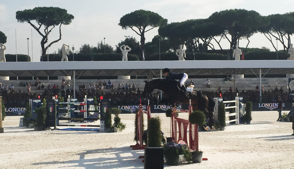 edwina top alexander con caretina global champions tour roma