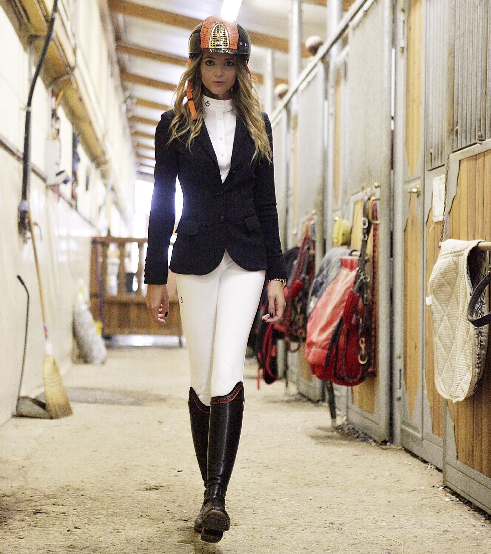 Pantalone bianco cavalleria toscana