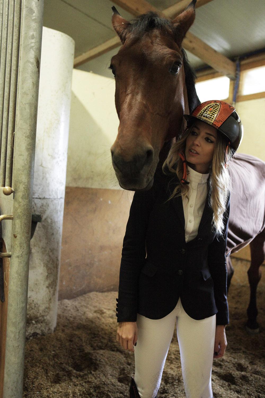 camicia da concorso equitazione cavalleria toscana