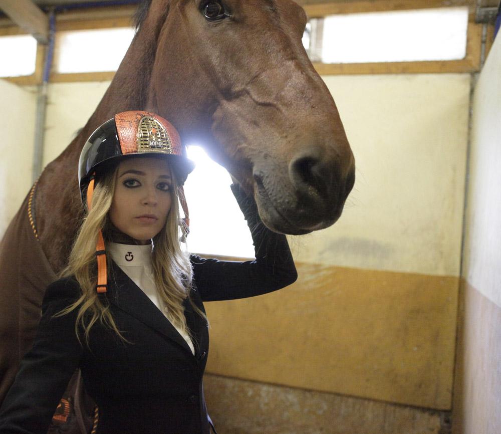 kepitalia cap equitazione arancione