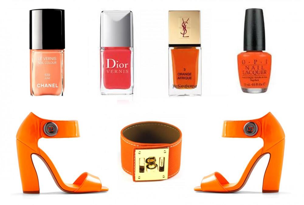 Orange Fluo Make up