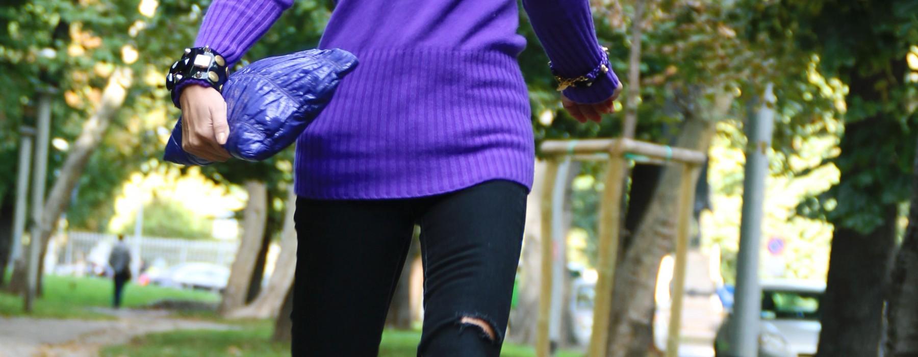 Purple Cashmere Pullover