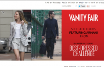 Armani Shooting for Vanityfair America