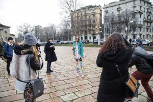 Paparazzi outside Just Cavalli fashion Show