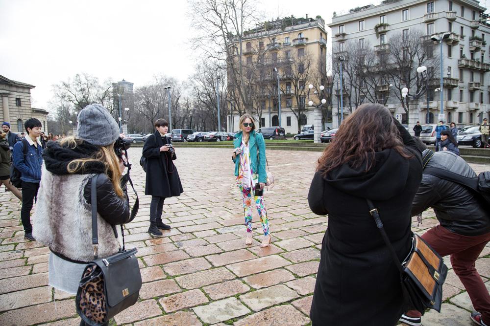 Paparazzi outside Just Cavalli fashion Show
