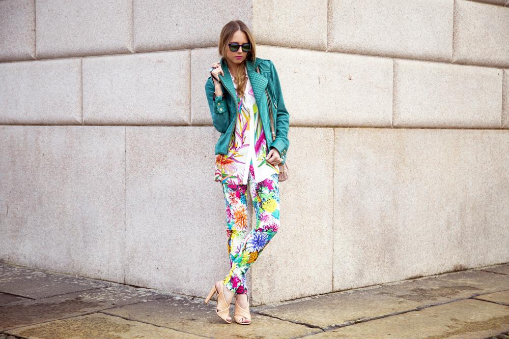 Virginia Varinelli ouside Just Cavalli Fashion Show