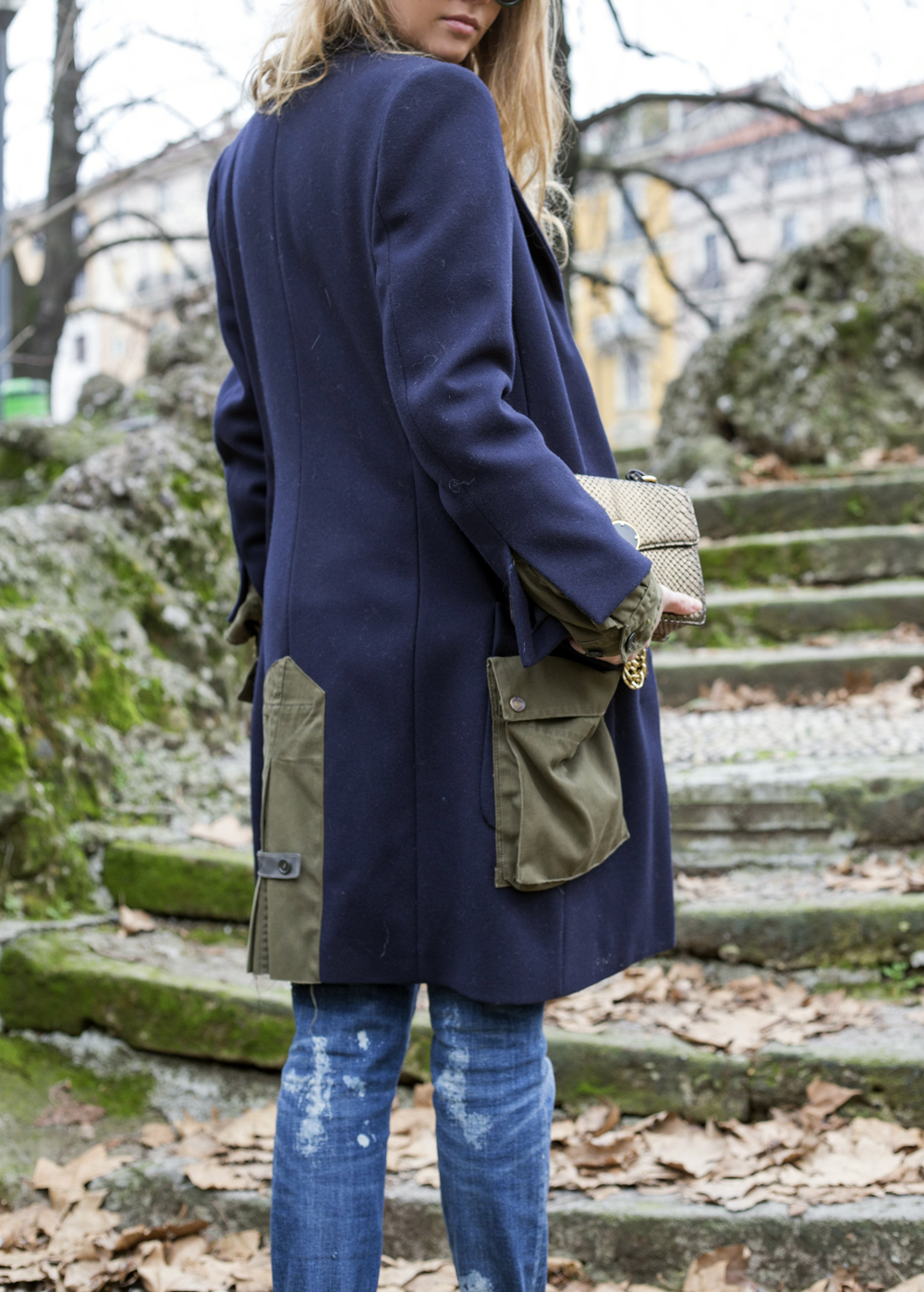 blue dondup coat