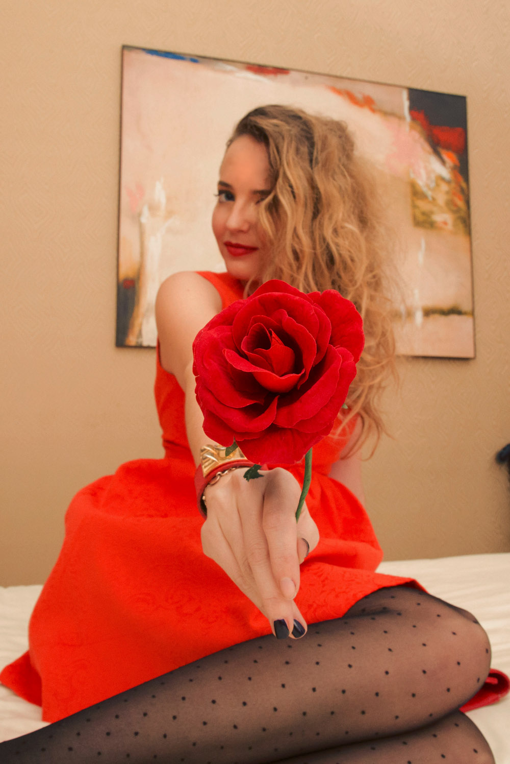red outfit saint valentine's day