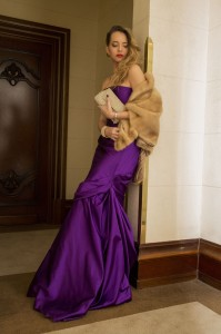 violet long dress ralph lauren