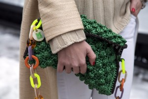 green mmissoni rafia bag