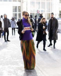 Spotted Virginia Varinelli outside diesel fashion show