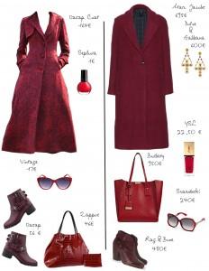 Bordeaux long coat