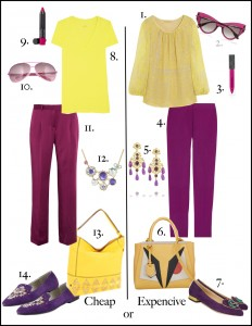 Purple and Yellow Look