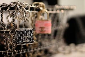 chanel padlock tweed
