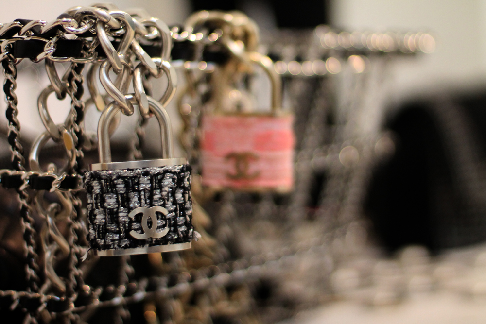 chanel padlock tweed