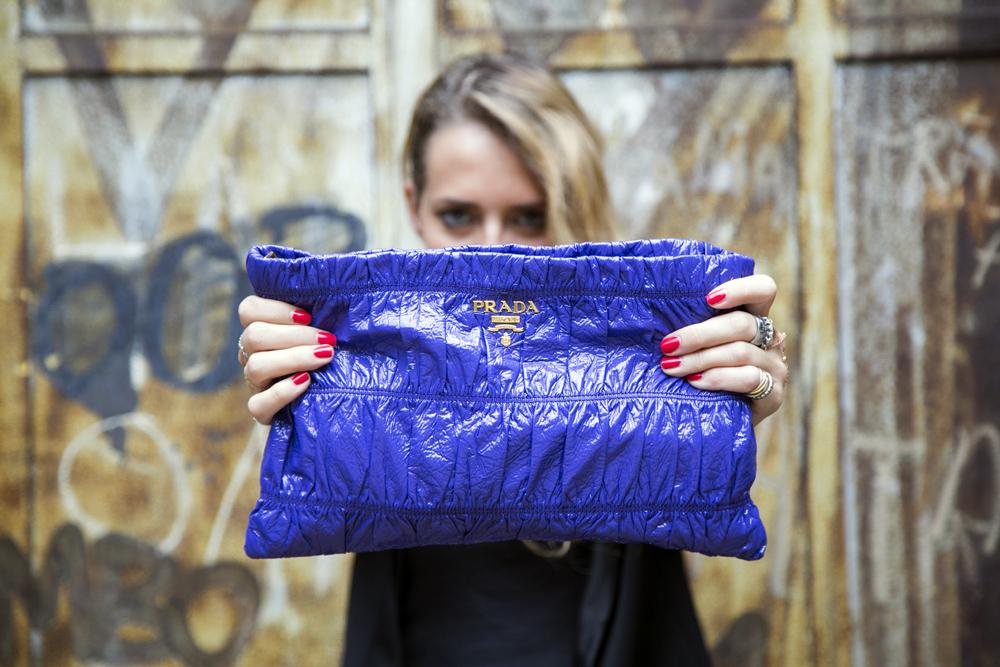 prada purple pochette