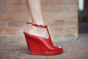 red givenchy wedges