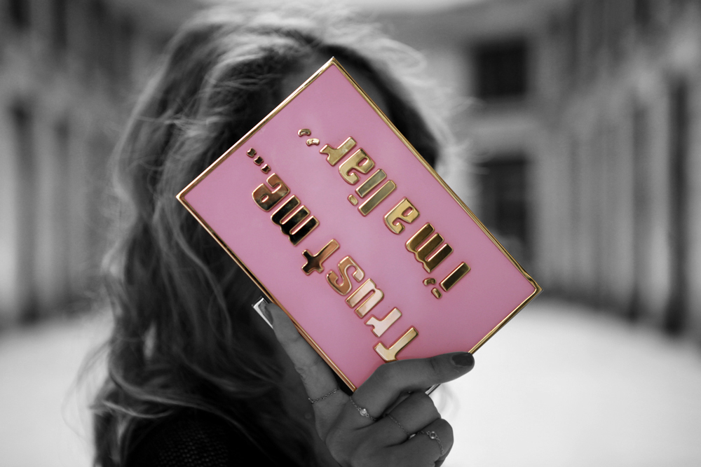 sandra j  pink clutch