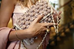 pink mmissoni raffia bag