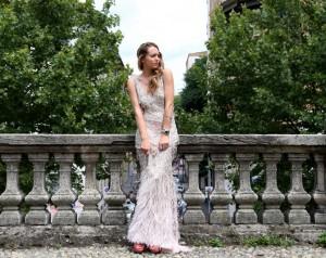 ralph lauren paillettes dress