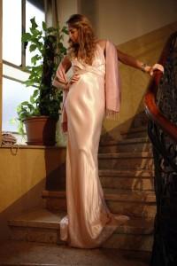 silk long dress ralph lauren