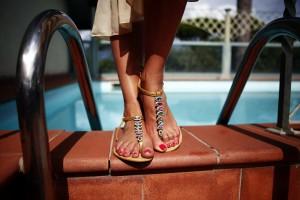 flat stone sandals