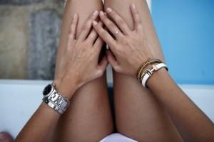 hermes white bracelet