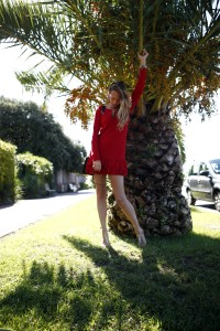 abito rosso ralph lauren