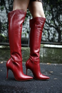 christian Louboutin red cuissards