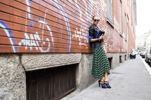 mmissoni green and blue dress 2015