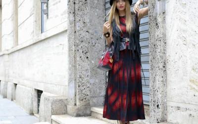 tartan long dress by ralph lauren