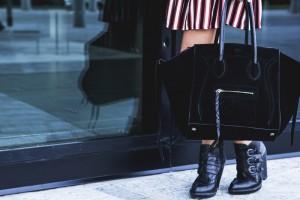 celine paddington bag black suede