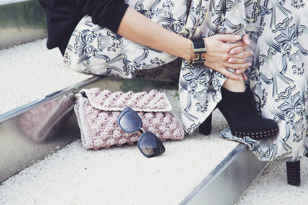 mmissoni pink rafia bag-marc by marc jacobs sunglasses- hermes bracelet