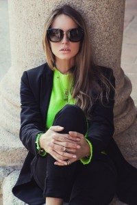black and fluo look fall 2015