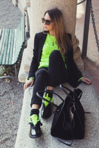 fluo polo sweater fall 2014