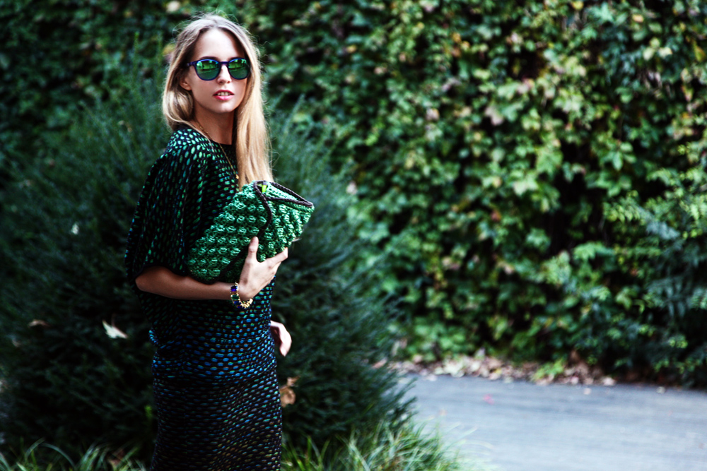 green shades m missoni dress
