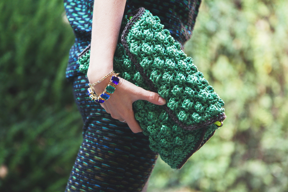 m missoni raffia bag green