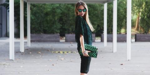 mmissoni green dress winter 2015