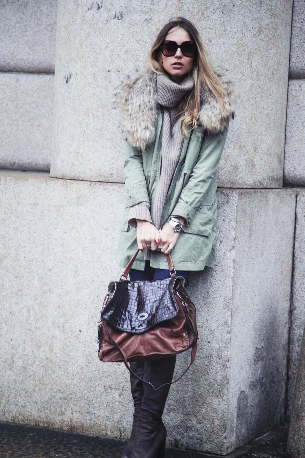 parka with coat