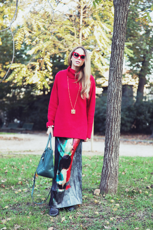 red vintage pullover cashmere