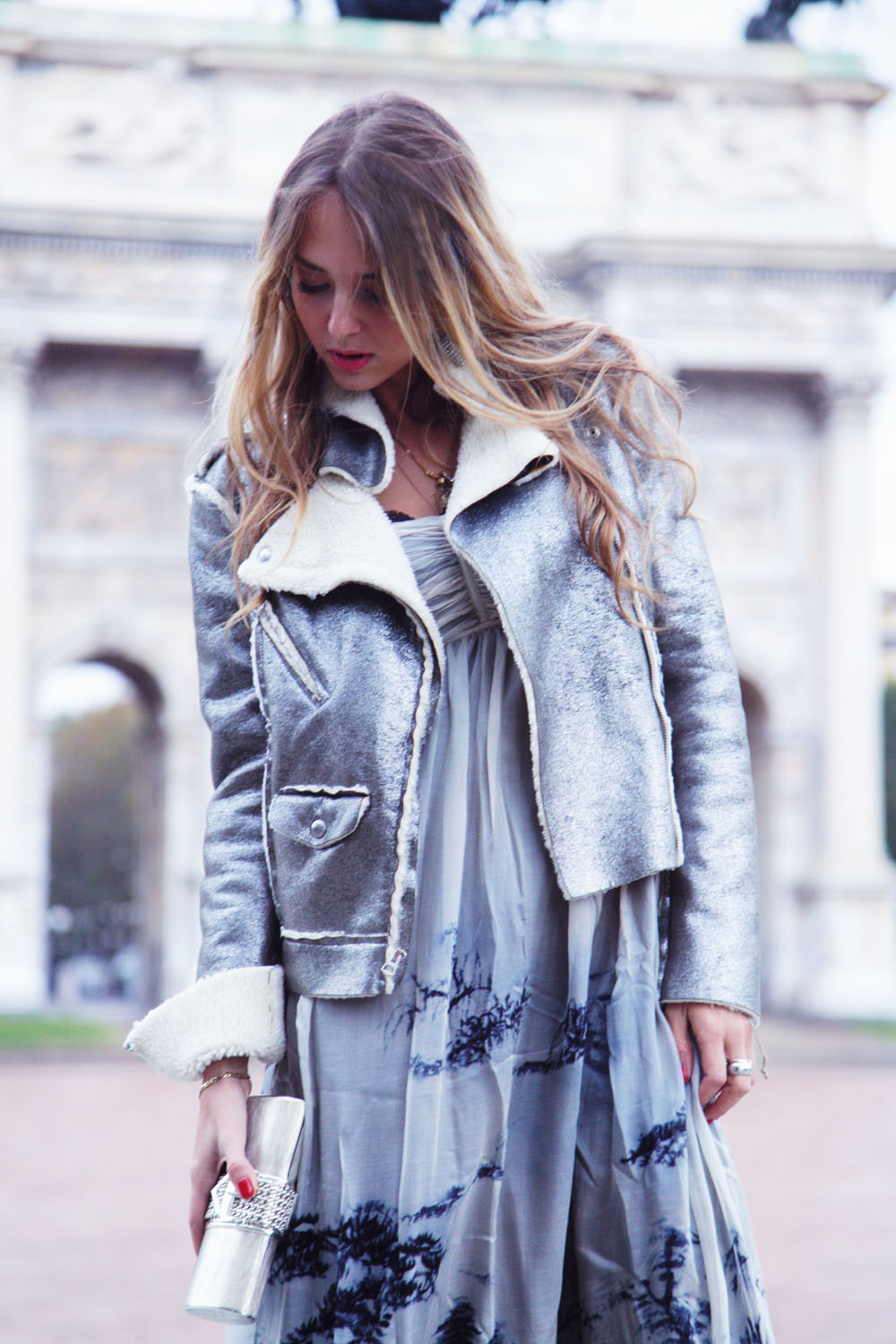 silver leather jacket