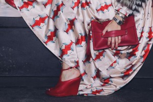 Givenchy red wedges