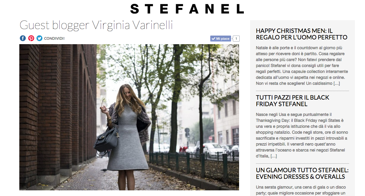Article for Stefanel Blog Site
