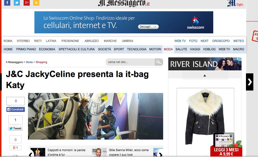 Interview for Il Messaggiero.it