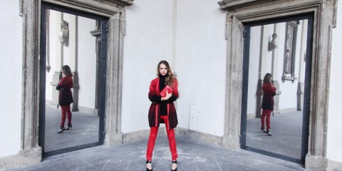 blac and red outfit