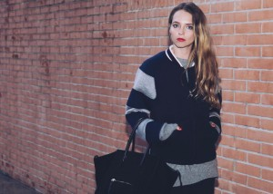 college bomber stripes fay fall winter 2015