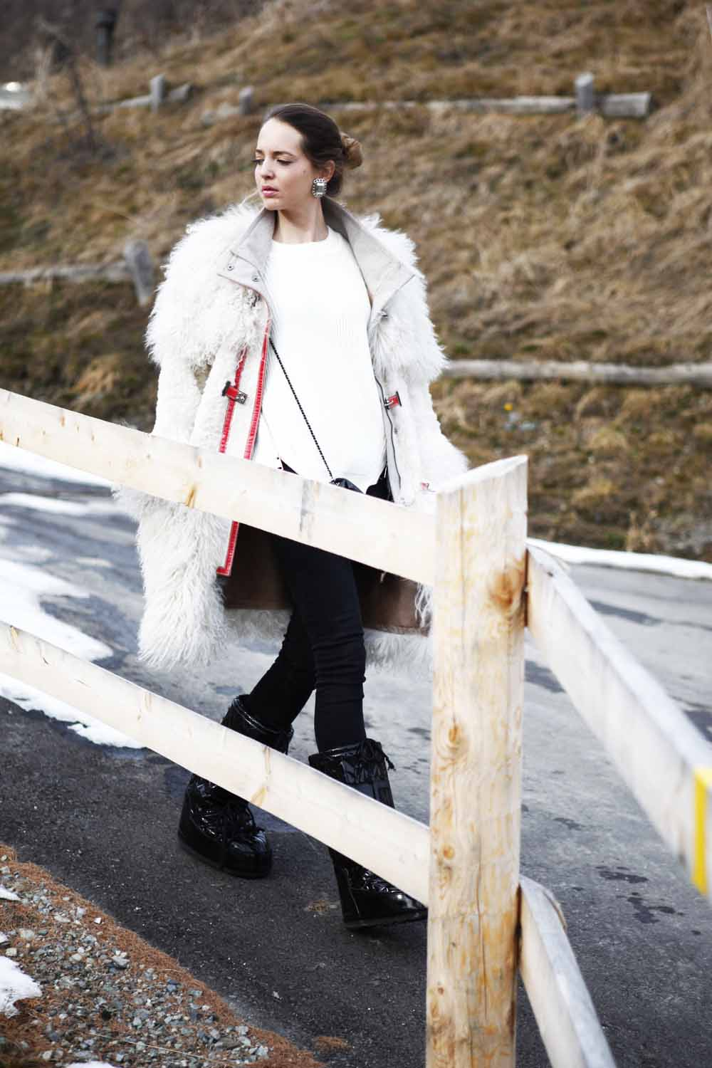 fashionable look for mountain saint moritz