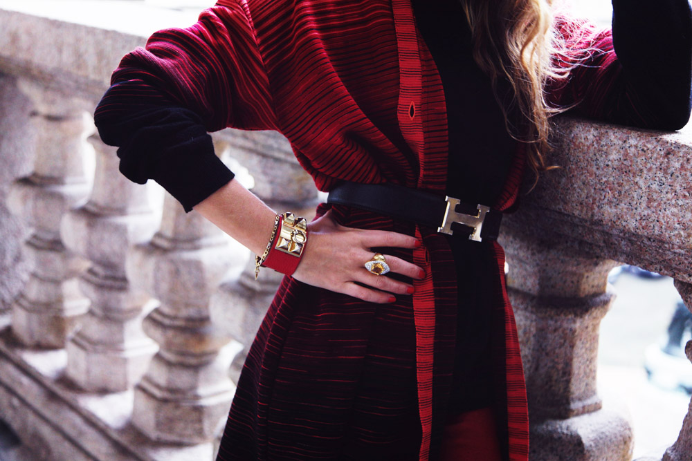 mmissoni red cardigan winter 2015