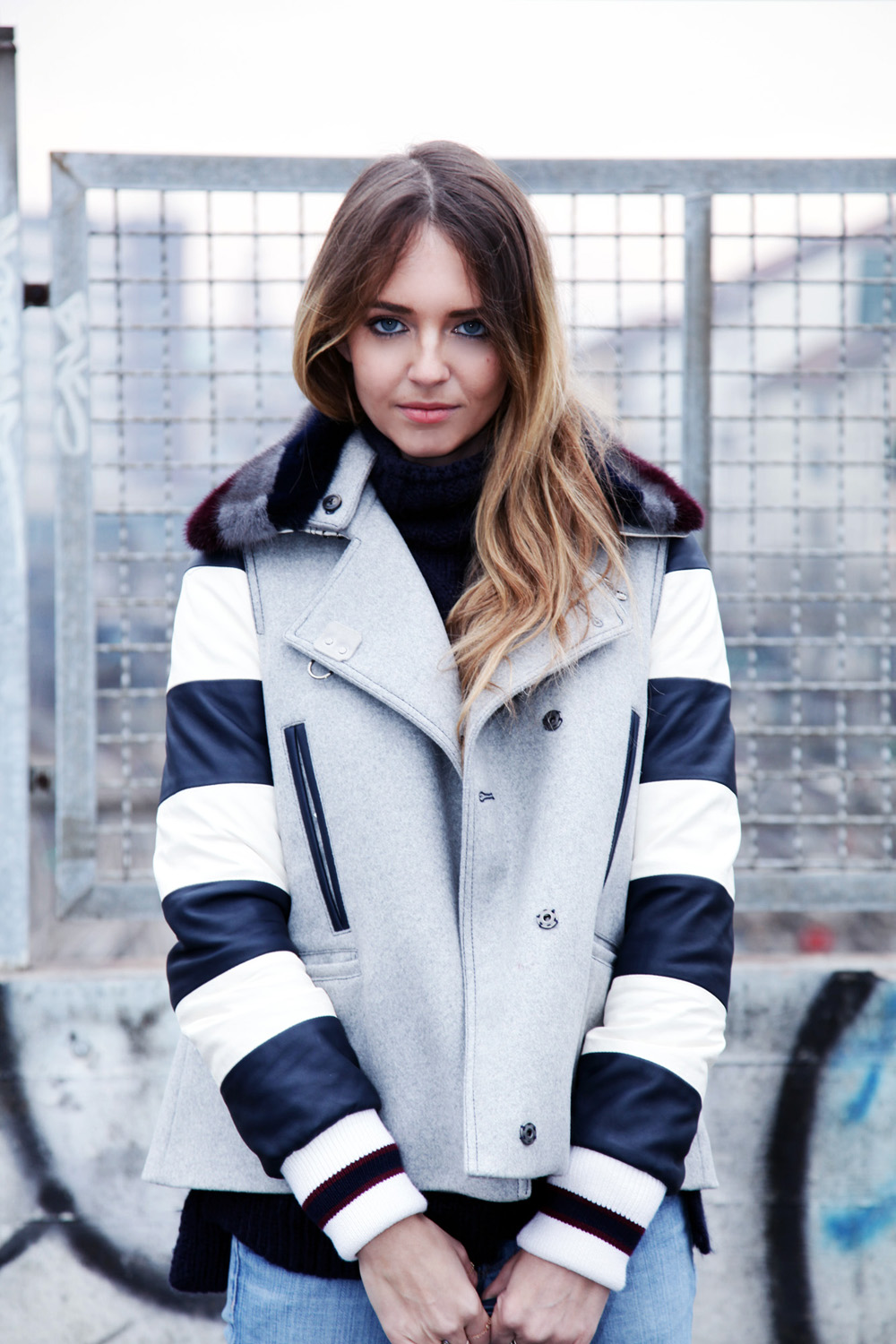 How to wear stripes fay coat
